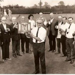 Little Bealings win Quoits Trophy c 1969