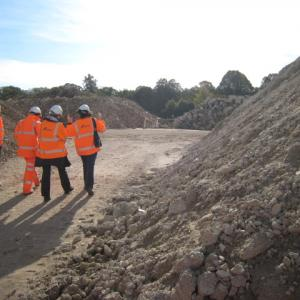 Photo 7 - entering the recycled crushed stockpile area